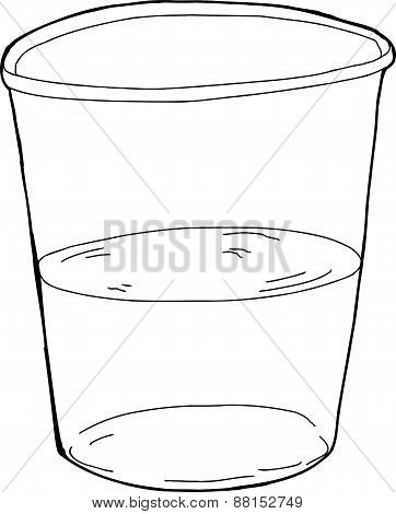 Outlined Half Full Cup
