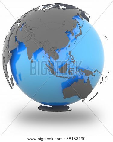 Eastern Hemisphere On Earth