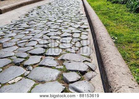 Historical Roman Road - Imperial Forums - Rome (italy)