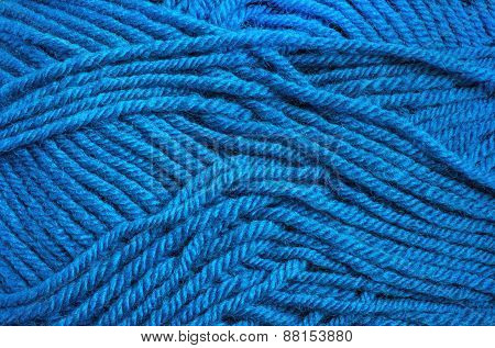 Blue Wool Threads Texture For Background
