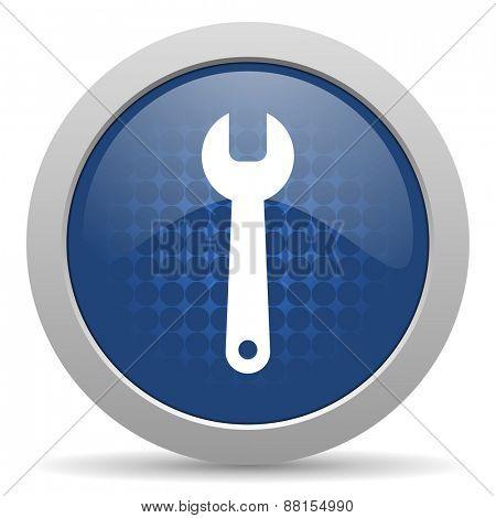 tool blue glossy web icon