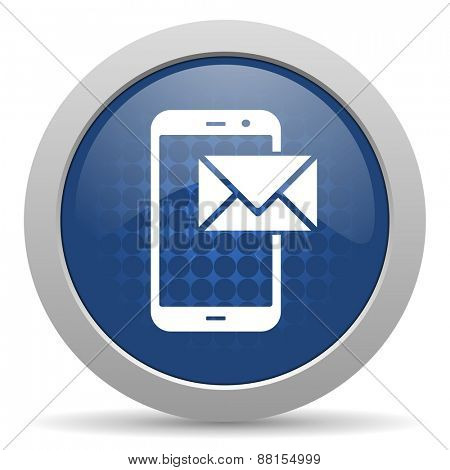 mail blue glossy web email icon