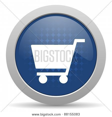 cart blue glossy web icon