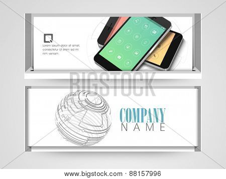 Professional website header or banner with mobile.
