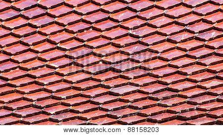 Thai Roof Temple Texture