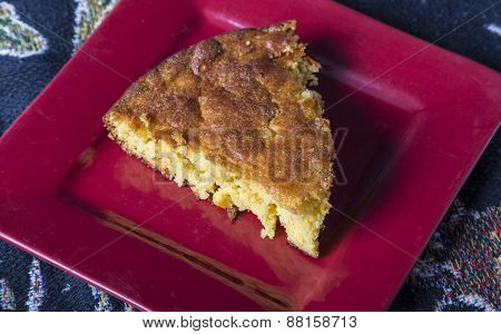 Serving Corn Bread On A Plate