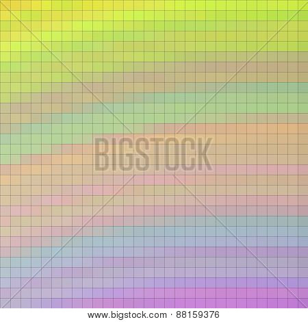 Pixelated Mosaic Background In Yellow, Blue, Pink