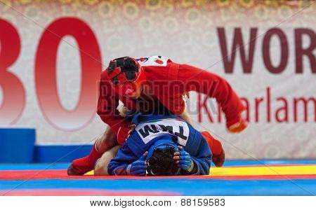 Kanzhanov B. (red) Vs Umbayev N. (blue)