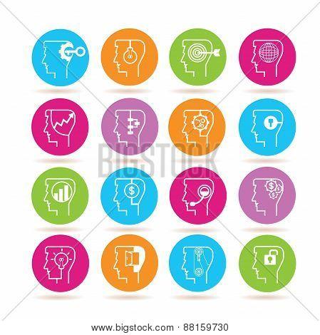 creative thinking icons