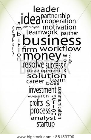 Wordcloud Business Lightbulb