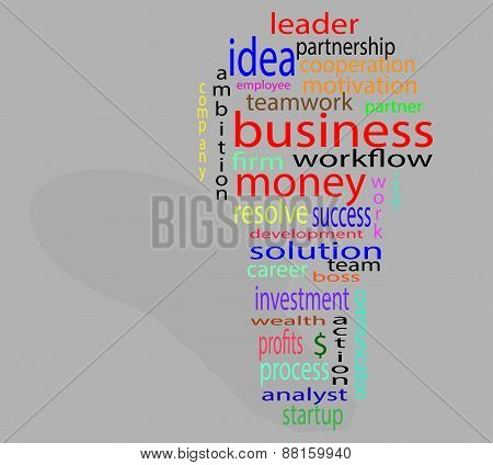 Wordcloud Business Lightbulb Colorful
