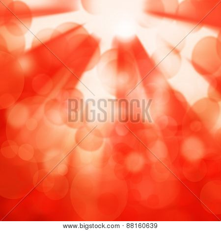 Abstract Orange Background For Design