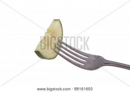 Cucumber On A Fork