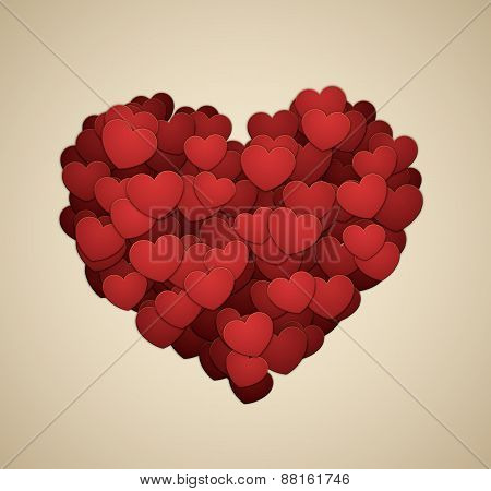 Heart made of hearts