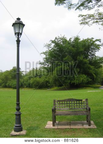 Botanical Garden - Lone Bench