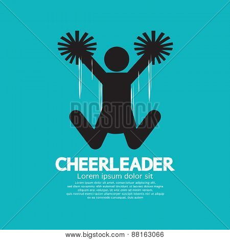 Cheerleader Graphic Symbol.