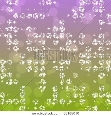 Bright Abstract Background With Stars And Bokeh