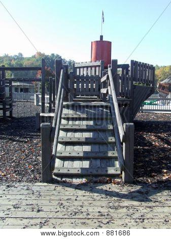 Spielplatz Laufplanke