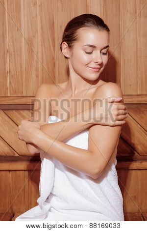 Woman cares after her body