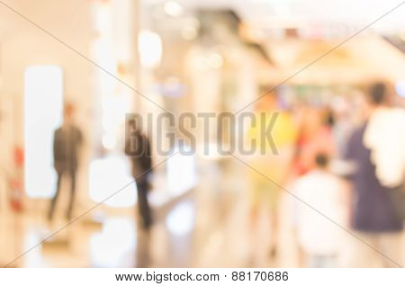 Image Of Retail Shop Blurred Background.