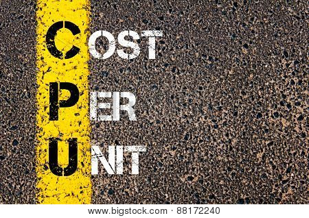 Business Acronym Cpu - Cost Per Unit