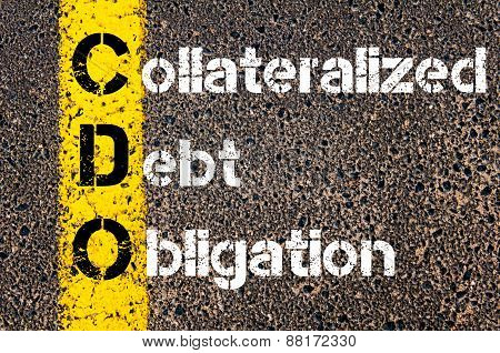 Business Acronym Cdo - Collateralized Debt Obligation