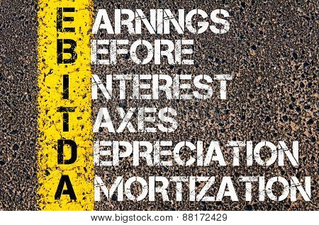 Ebitda – Earnings Before Interest, Taxes, Depreciation, And Amortization.