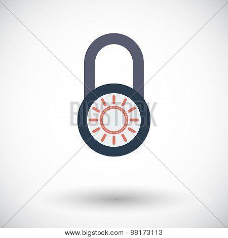 Lock single icon.