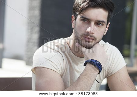Attractive Man  In Contemplation