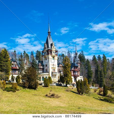 Beautiful former royal Peles castle, Sinaia, Romania