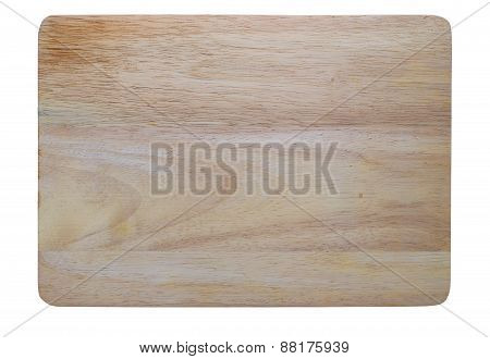Wooden Chopping Block On White
