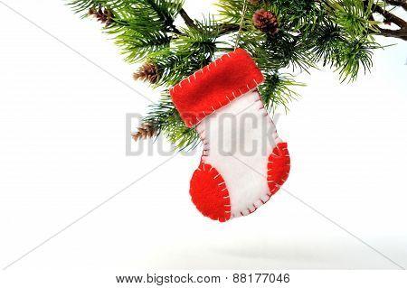 Christmas Toys Of Felt Boots Handmade Santa Claus