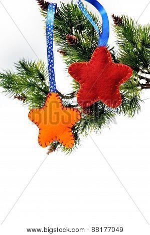 Christmas Toys Of Felt Stars