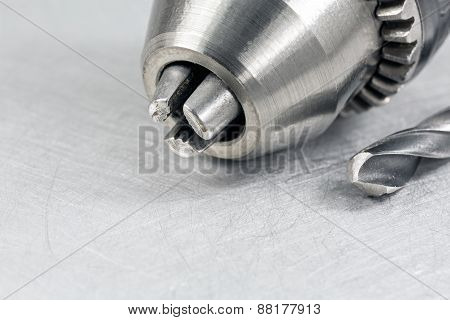 Closeup Of Electric Drill Head