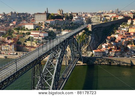 Maria Pia bridge in Porto