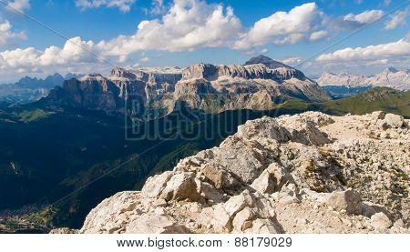 Sella Group With Piz Boe In Italian Dolomites