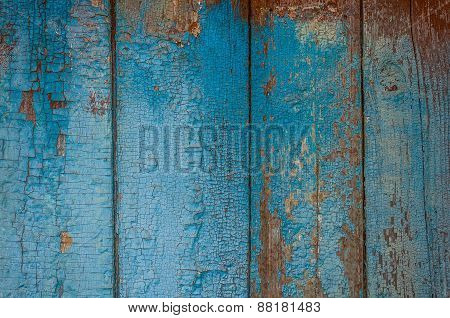 Painted Old Wooden Wall.