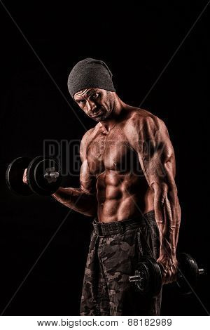 Army, Military, Strong Man, Weights, Exercising, Gym