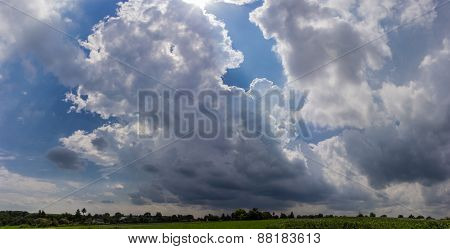 Sky With Storm Cloud