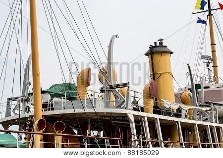 Details On Deck Of Old Ship