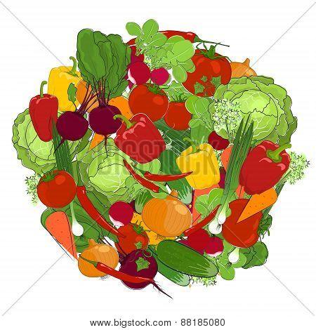 Healthy food, fresh vegetables