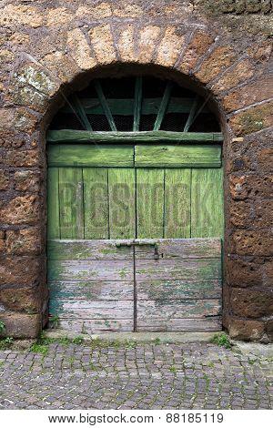 Green Rustic Doorway