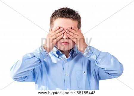 Child Covering His Eyes