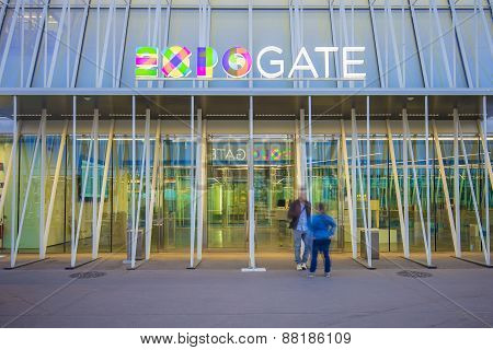 Expo Gate 2015 In Milan, Italy.