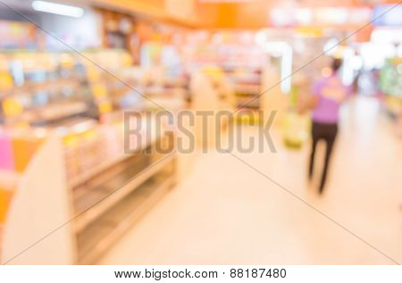 Food Store Blur  With Bokeh