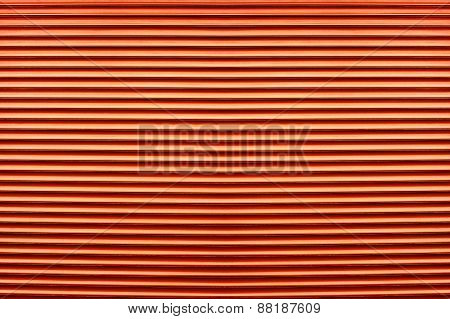 Texture Of Colorful Orange Plastic Shutters For Abstract Elements Design Background
