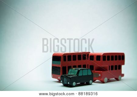 Two English Bus And One Car