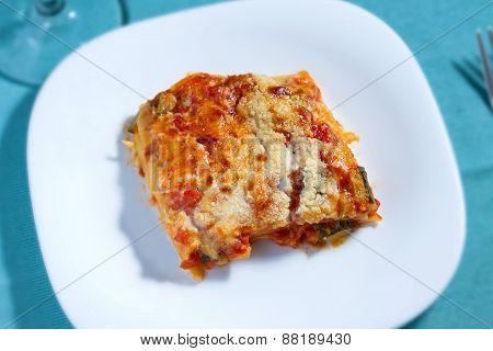 Vegetarian Lasagna (top View)
