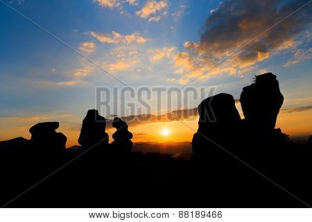 The Belogradchik Rocks At Sunset, Bulgaria