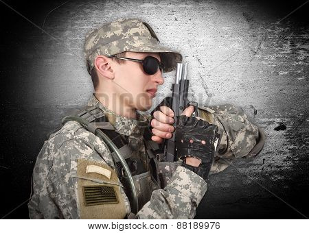 Soldier With Gun